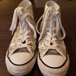 Converse all star sequin high top sneaker